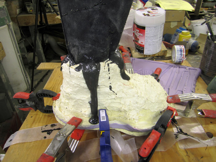 Boot Mold Poured