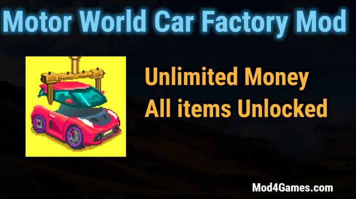 Motor World Car Factory Mod Unlimited Money All Items