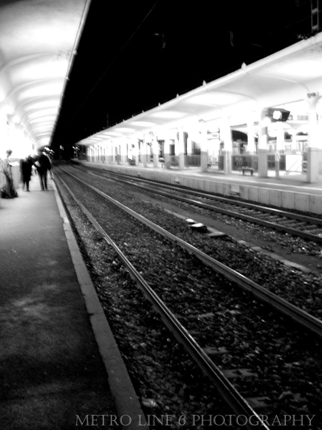 Train station in Saint Brieuc 8x10 Black and White Photography Print