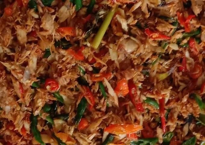 Resep Tongkol suwir super pedas 🌶️ Bikin Nagih