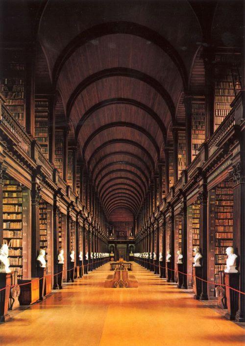 Long Room, Trinity College Library — Dublin, Ireland