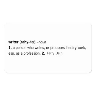 Writer Defined [as You] Business Card