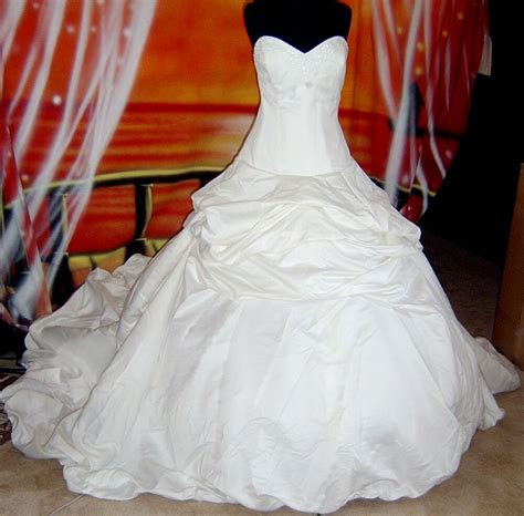 wedding dress bridal sz   stock cinderella gown  ebay