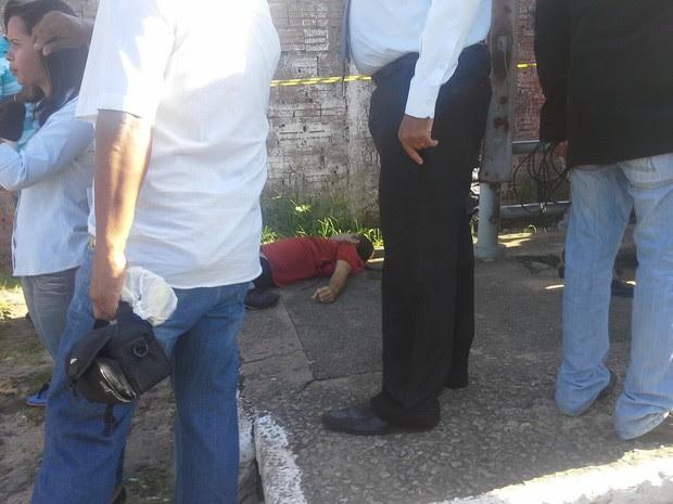 Jovem de 22 anos foi assassinado nesta quarta (31), em São Luís (Foto: João Ricardo/G1 Maranhão)
