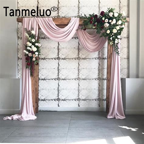 1.4*6M Solid color terylene fabric wedding arch draping