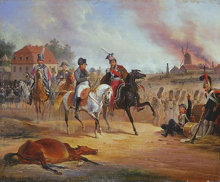 Archivo: Napoleon i Poniatowski Lipsk.jpg