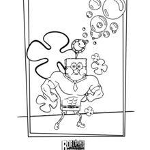 Dibujos Para Colorear Bob Esponja Un Héroe Fuera Del Agua Es
