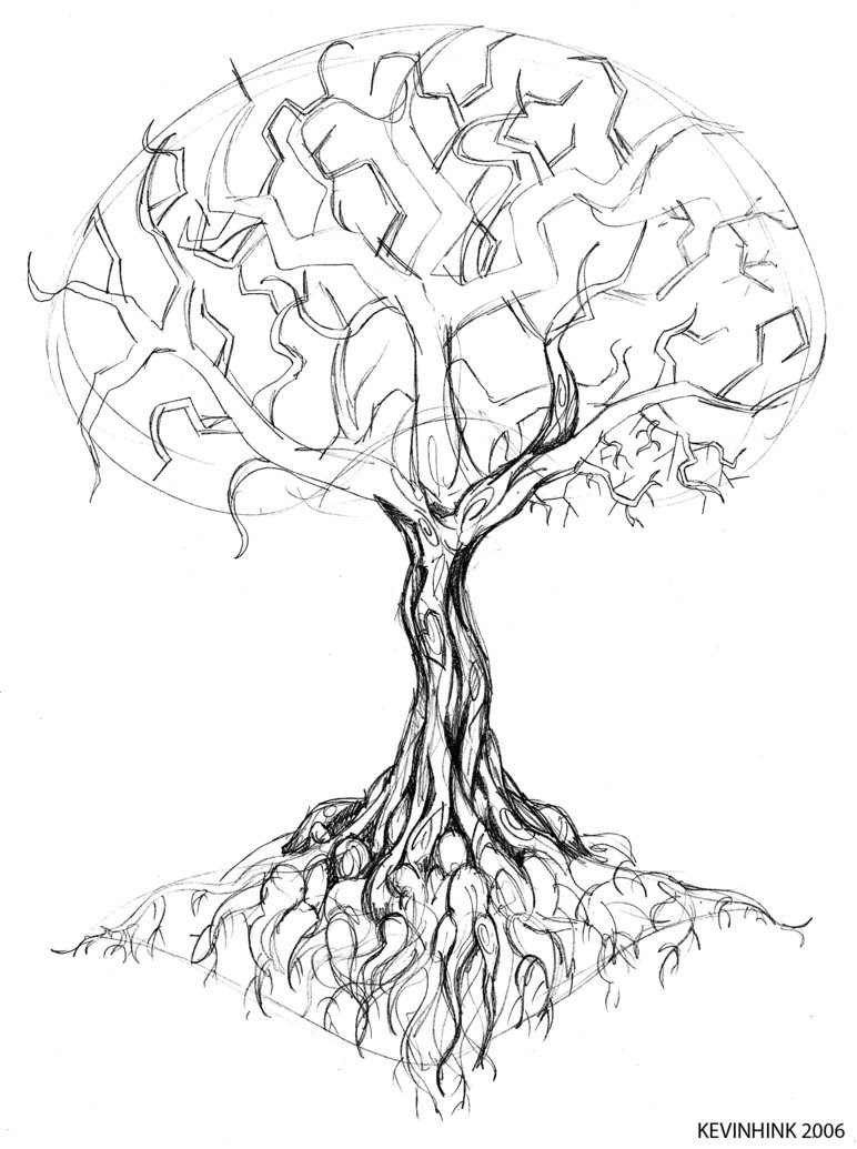 Tree Drawing Tattoo At Getdrawingscom Free For Personal Use Tree