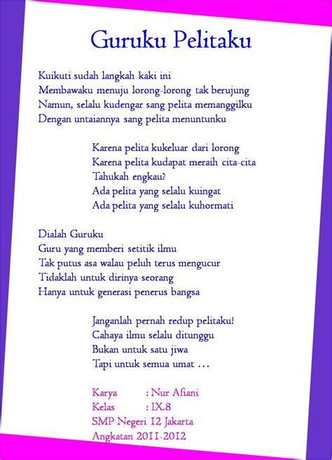 kumpulan puisi  guru terbaru  dandi efendi