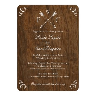 Rustic Tree Wedding Invitation