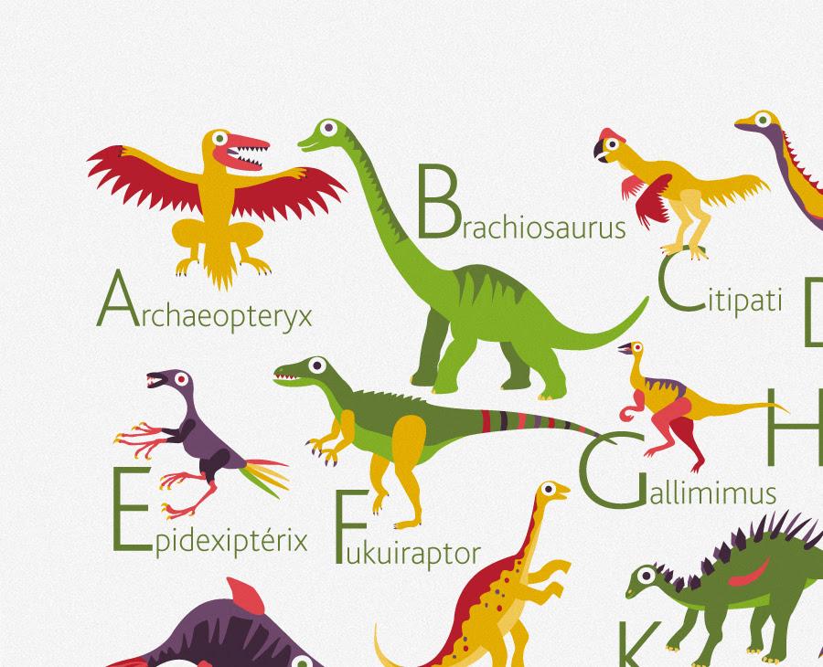 Printable Dinosaur Alphabet