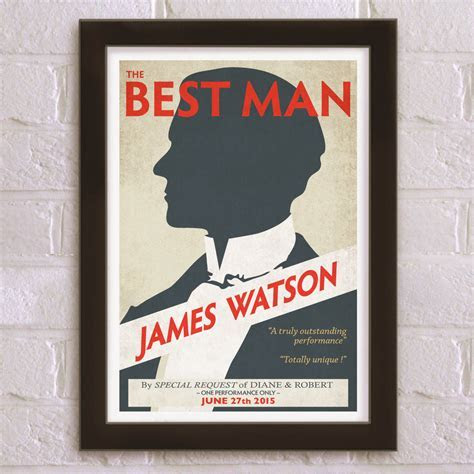 the best man personalised wedding thank you print by just