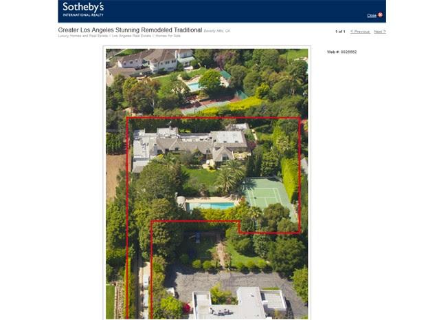 Site da empresa 'Sotherby´s' mostra a casa que, segundo a revista 'Forbes', está sendo vendida por Madonna por US$ 22,5 milhões (Foto: Reprodução / Soterbyshomes.com)