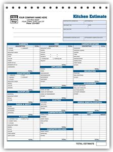 Kitchen Estimate Form