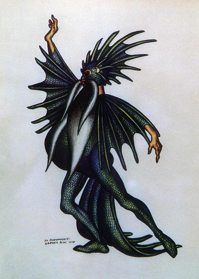 Hannes Bok - Fantasy Costume