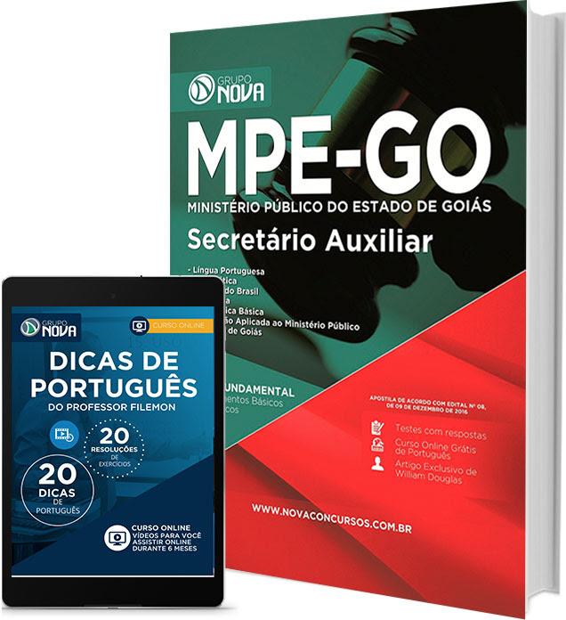 Apostila MPEGO Secretário Auxiliar