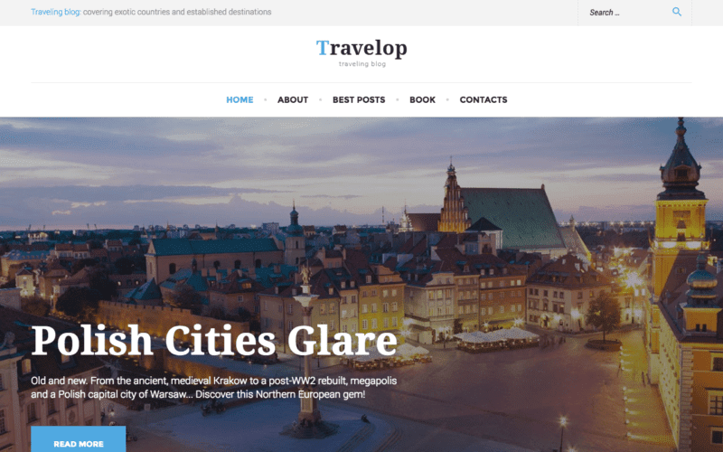 Travelop travel blog theme