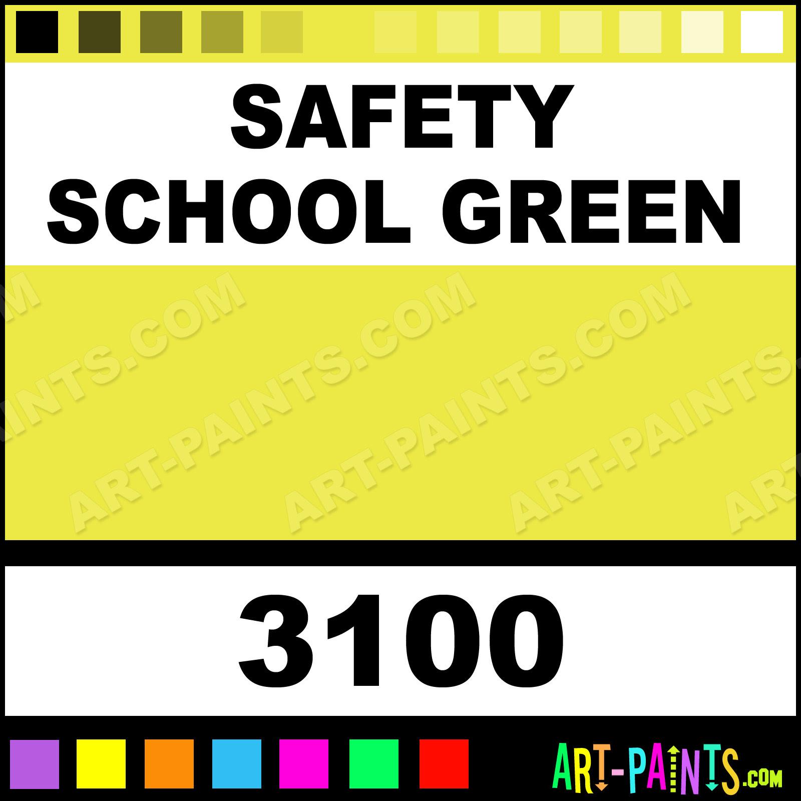 Safety School Green Fluorescent Spray Paints - 3100 - Safety School Green Paint, Safety School ...