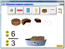Screenshot of the simulation Εισαγωγή στα κλάσματα