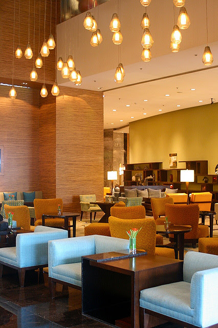 Lobby lounge of Marriott Hotel Manila