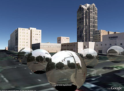 Google Earth 4.3 screenshot of Street View