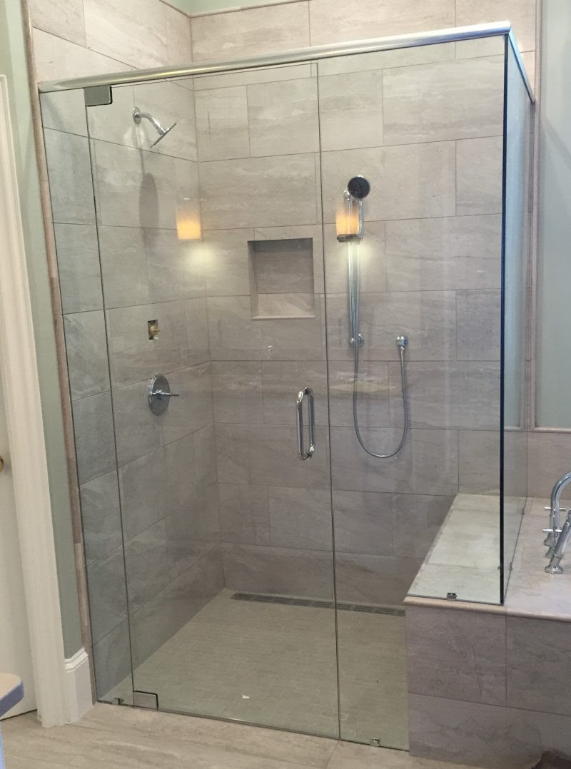 Frameless Showers With Header Frameless Shower Doors