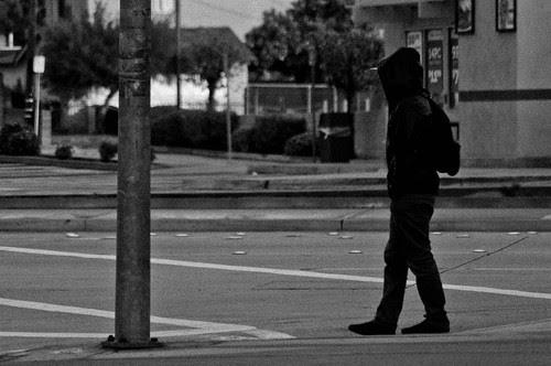 Lone boy waiting