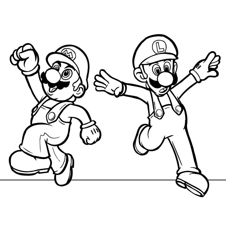 Coloriage Mario Strikers A Imprimer Gratuit Az Coloriage