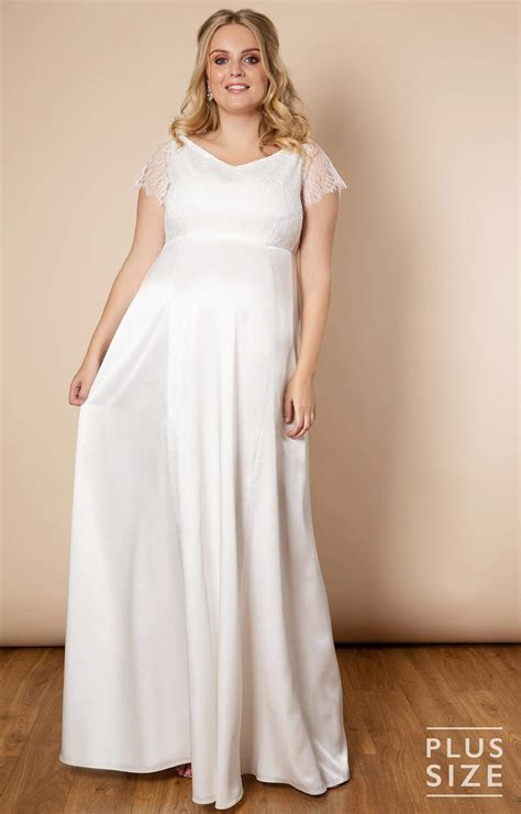 Eleanor Gown Plus Size Maternity Wedding Gown Ivory
