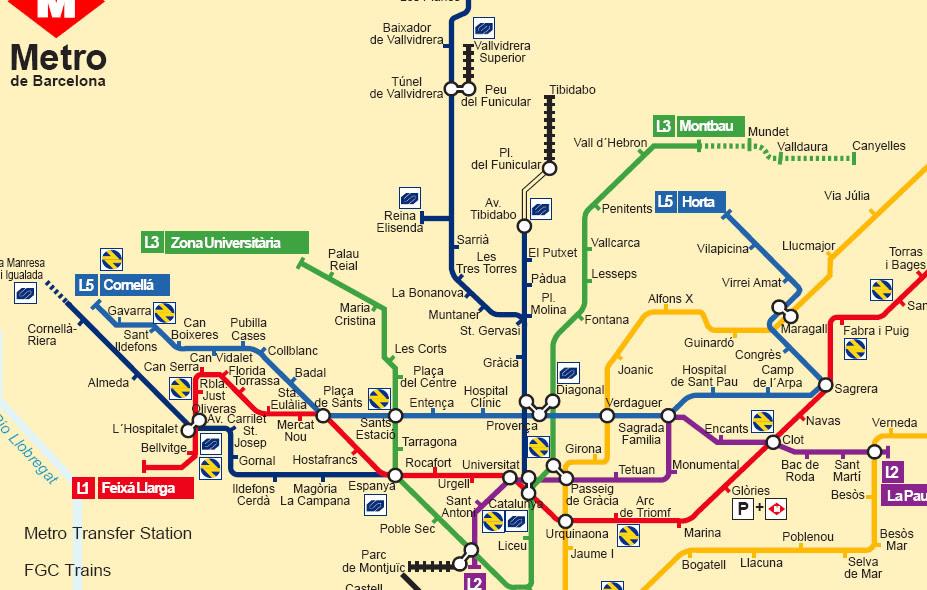 Barcelona Subway Map.Spain Metro Map Global Map
