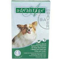 Advantage Small Dogs/ Pups 1-10lbs (Green) 12 + 4 Free Doses
