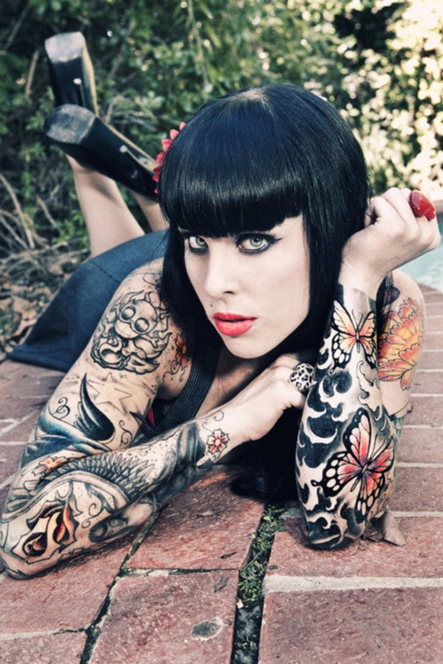 Women Sleeve Tattoo Full Tattoo Love