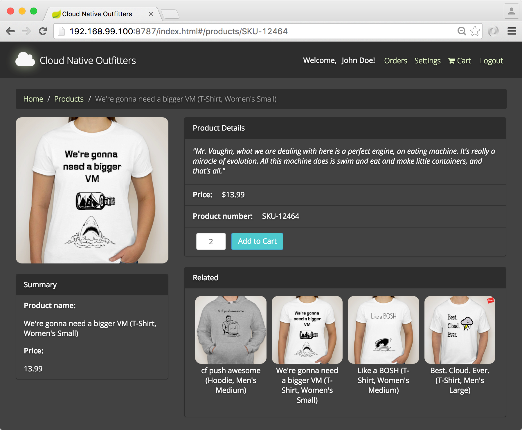 Online store microservice backend