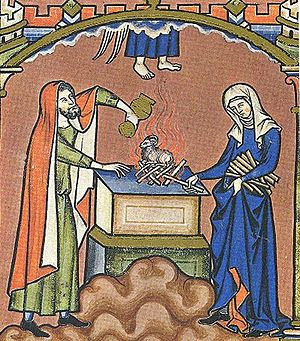 Images from the Maciejowski Bible, Leaf 14: Ma...