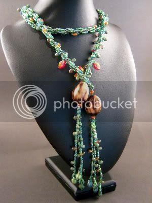 Nature Nut Lariat Necklace
