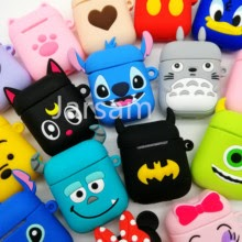 Cute Cartoon Wireless Earphone Case For Apple AirPods 2 Silicone