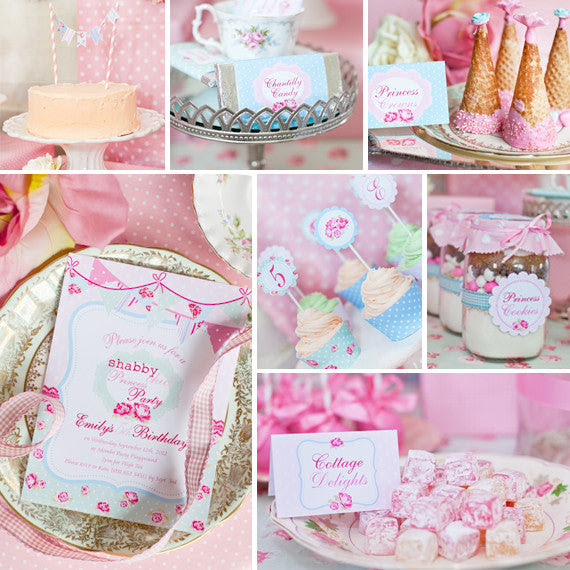 Shabby Chic Princess Party Decorations Princess Birthday Party