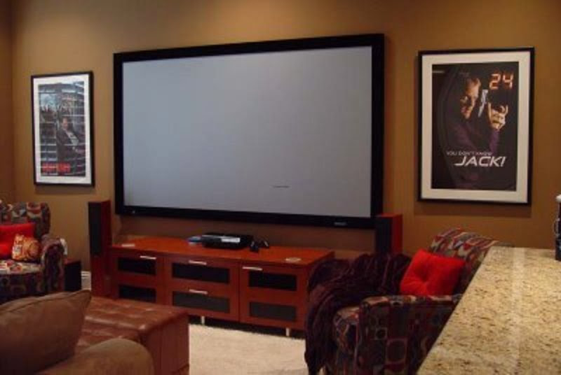 Media Rooms With Big Screen Tv | Interior Decorating Tips