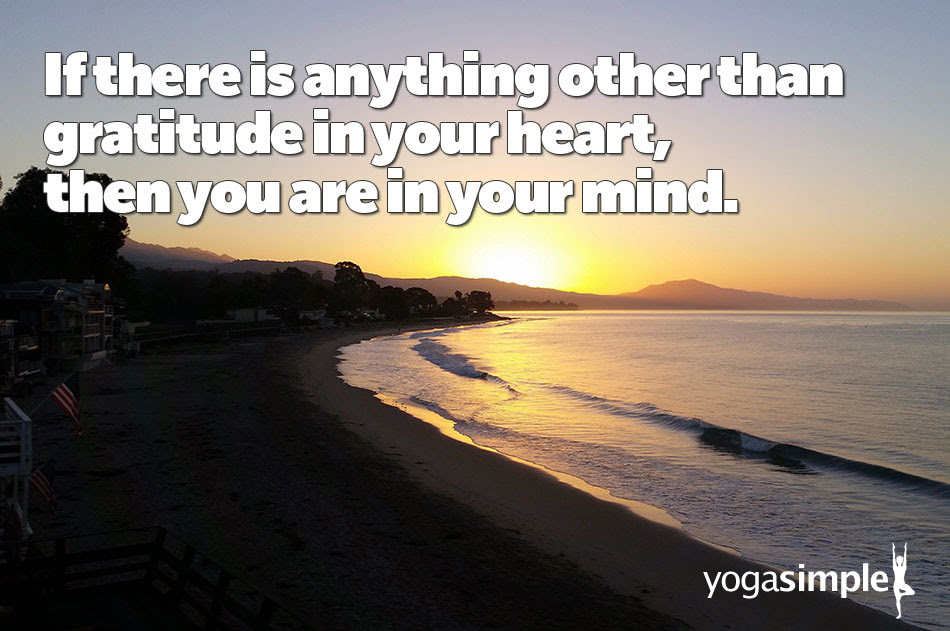 Quote Gratitude In Your Heart Yoga Simple