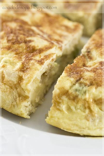 Tortilla bacalao y pimiento verde-3