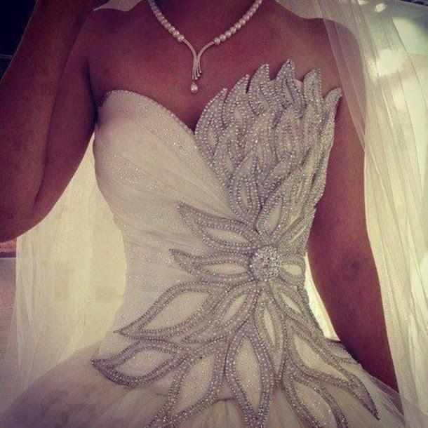 zpg7si l 610x610 dress wedding dress clothes wedding wedding weddingdress bling glitz blingdress glitzdress blingweddingdress glitzweddingdress white dress prom dress silver beautiful white elegant
