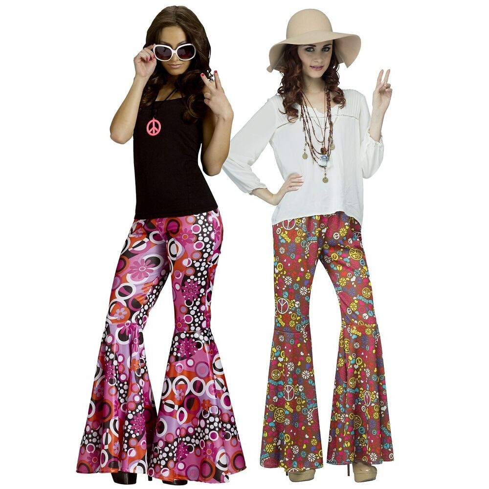 bell bottoms adult 70s disco or 60s hippie womens