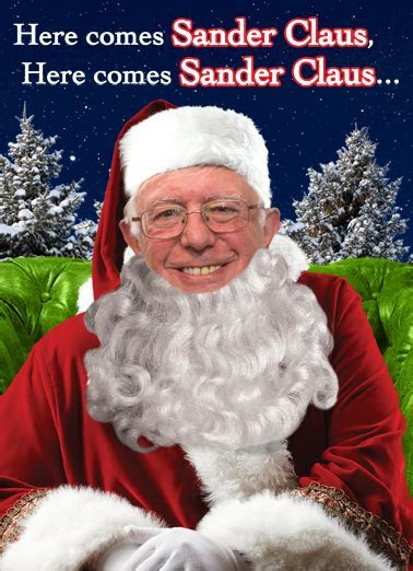"Funny Christmas Card   ""Sander Claus"" from CardFool.com"