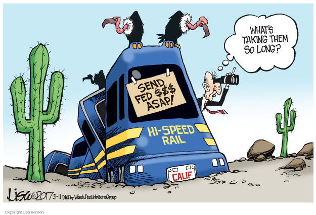 Image result for california high-speed rail cartoons