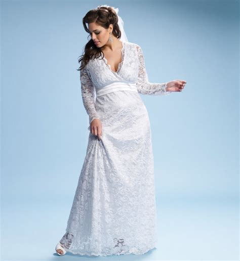 Plus Size Wedding Dresses with Sleeves   DressedUpGirl.com