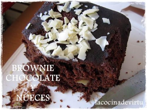 brownie chocolate y nueces microondas