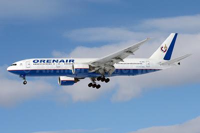 Orenair (Orenburg Airlines) Boeing 777-2Q8 ER VQ-BNU (msn 29908) SVO (OSDU). Image: 911702.