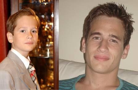 Guilherme aos 10 anos, em 'Chocolate com Pimenta' e hoje, aos 19
