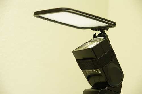 Spectra Light Diffuser as reflector on pentax af540 and pentax k20d