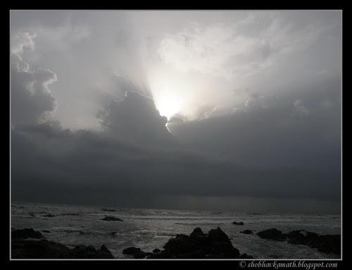 Cloudy sky - Anjuna Beach